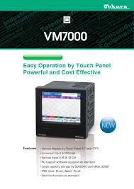 vm7000 paperless recorder ohkura electric pdf catalogue