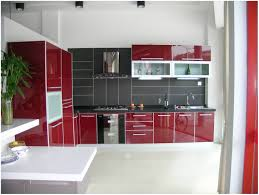 black glazed kitchen cabinets kitchen red storage units red kitchen cabinets black countertops