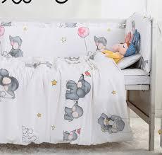 Crib Bedding Animals 7pcs Baby Bedding Set Animals Baby Quilt Bumper Cushion Pillow Cot