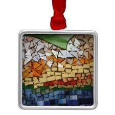 glass mosaic ornaments keepsake ornaments zazzle