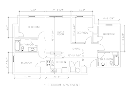 4 Bedroom Apartment Floor Plans Uncw Housing