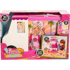 Barbie Kitchen Set For Kids Barbie Food Truck Walmart Com