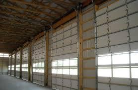 Overhead Shed Door by Post Frame Building Door Options Conestoga Buildings