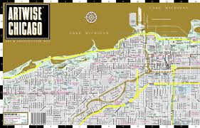 Streetwise Maps Artwise Chicago Museum Map Laminated Museum Map Of Chicago
