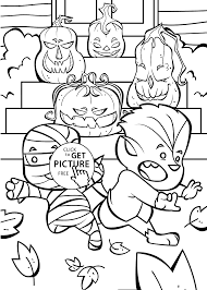 happy halloween funny picture funny jack o lanterns coloring page for kids printable free
