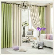 Blue Grey Curtains Summer Style Linen Curtains For Living Room Blackout Curtain White