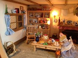 Dolls House Kitchen Furniture Miniature Mouse Tree Dolls House Inspired By Brambly Hedge My