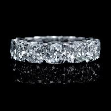 eternity wedding bands 9 89ct diamond egl certified 18k white gold eternity wedding band ring