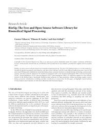 biosig the free and open source software library for biomedical