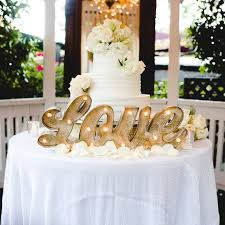 wedding cake table let a marquee sign light up a cake table and make it the