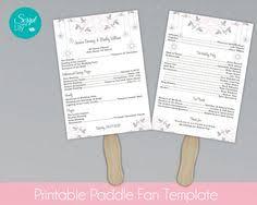 Paddle Fan Program Template Floral Coral Fan Program Template Double Sided Diy Download