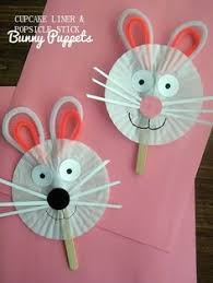 this paper bag puppet is the perfect easter craft to do with