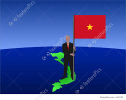 Viet Nam Flag Man On Map Of Vietnam With Flag Stock Illustration I1651790 At