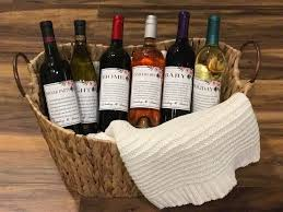 wine basket wedding gift idea a year of firsts wine basket the sassy southern
