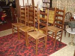 Antique Oak Ladder Back Chairs Ladder Back Chair Ebay