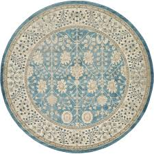light blue round area rug unique loom turkish salzburg grey floral round area rug 8 x 8