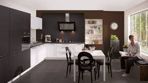 cuisine living cuisine noir blanc mur chocolat home more cuisine