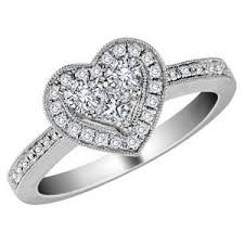 diamond heart ring diamond heart ring 1 2 carat ctw in 14k white gold certif