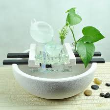 simple modern ceramic pond fish tank water wind lucky