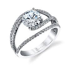 engagement rings engagement ring settings split band engagement ring setting two tone diamond engagement ring