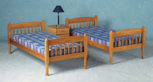 Solid Pine Bed Frame Albany Solid Pine Bunk Bed Splits Into 2 Single Bedframes