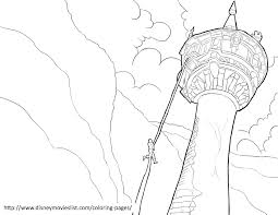 rapunzel tower coloring pages