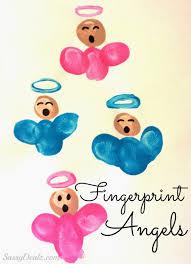 diy fingerprint singing angel craft for kids angel crafts and