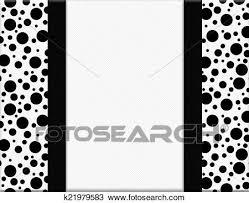 black and white polka dot ribbon stock photo of black and white polka dot frame with ribbon