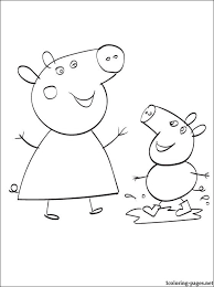 peppa pig coloring printable coloring pages