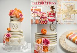 custom wedding cake featured on bliss magazine 2014
