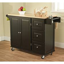 simple living aspen 3 drawer drop leaf kitchen cart by simple