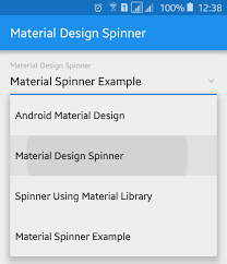 spinner android february 2016 viral android tutorials exles ux ui design