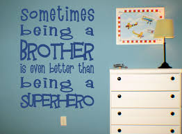 product reviews being brother better than superhero wall decals