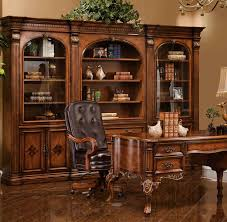wall unit savannah collections melville wall unit book case shown in antique cognac finish