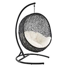 island bay samos resin wicker hanging egg loveseat with cushion