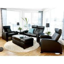 Low Back Leather Sofa Stressless By Ekornes Stressless Arion High Back Reclining 3 Seat