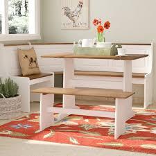 breakfast nook table with bench corner breakfast nook bench wayfair