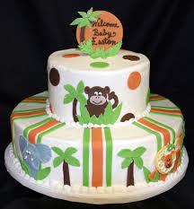 jungle theme baby shower cake baby shower cakes from baker s nook