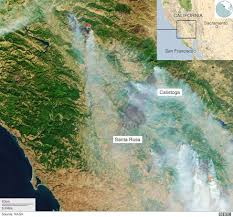 California Wildfire Fire Map by Santa Rosa And Napa Wildfire Destruction From Above Bbc News