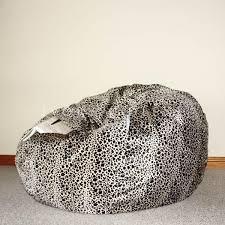 fur bean bag leopard print pierre ivory u0026 deene u2013 ivory