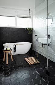 black tile bathroom ideas bathrooms with black walls interiors by color