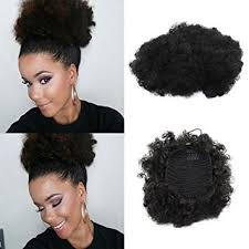small afro puff buns hair pieces amazon com vgte beauty synthetic curly hair ponytail african