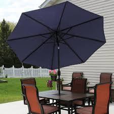Patio Umbrella Crank Sunnydaze Aluminum Patio Umbrella U2013 Tilt U0026 Crank U2013 9 U0027