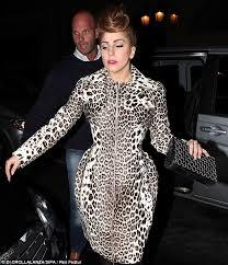 lady gaga lady gaga casual in leopard print dress lady