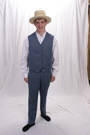 amish man u0027s blue vest and pants set the amish clotheslinethe