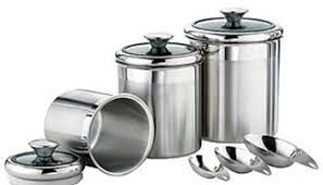 kitchen canisters stainless steel top 35 steel kitchen canisters that look inspiring treknotes
