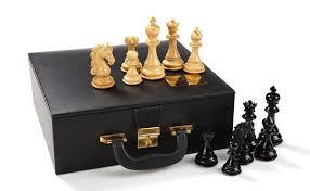 wooden chess set sea horse zontik games