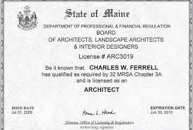 Interior Designer License by Wayne Ferrell Architecture