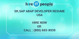 Sap Abap Sample Resume 3 Years Experience by Sr Sap Abap Developer Resume Hire It People We Get It Done