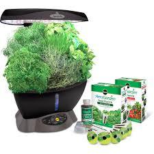 miracle gro aerogarden classic 6 with gourmet herbs seed pod kit